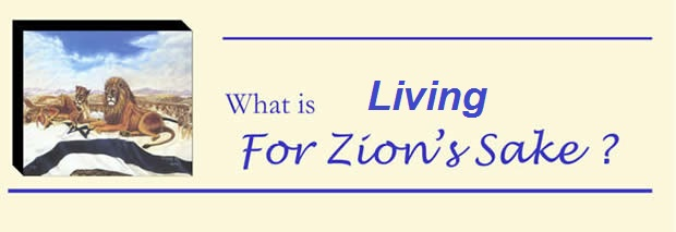 what is For Zion's sake