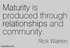 maturity rick warren