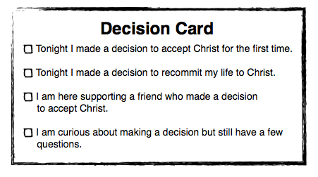 Making decisions or Making Disciples